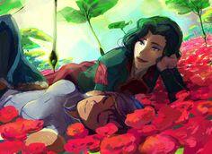 "Korrasami (The Legend of Korra) - ""Button-Up Scribbles"" by Nillia"