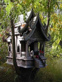 Thai Spirit House (used like an altar or a shrine)