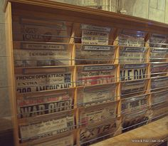Outside of Hearts' private office - some of his popular newspapers in circulation at the time.