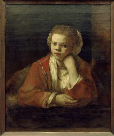 Bild:  Rembrandt van Rijn - Rembrandt / Girl at the Window