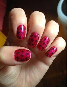 #stars#nails#pretty#cool
