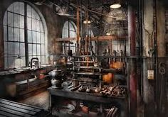 steampunk interior decoration - Google Search