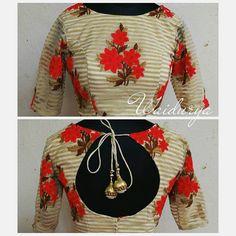 Designer blouse with back design.