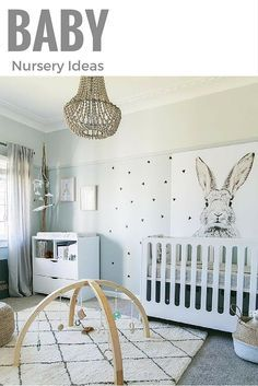 Modern baby nursery ideas.