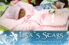 Lisa's Stars is an organisation that donates articles for the teeny tinies who didn't make it, but whose mummy's and daddy's want to send them off wrapped in love. Watch out for patterns. Crotchet Patterns, Baby Patterns, Doll Patterns, Knitting Patterns, Preemie Babies, Premature Baby, Preemie Crochet, Crochet Baby, Knitting For Charity