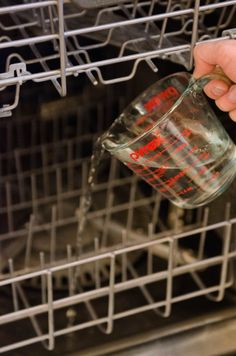 How To Clean a Dishwasher. Cleaning your dish washer is EASY with these tips. Whether you have mold or hard water, or it's just plain smelly, here's everything you need to know about cleaning dishwashers with white vinegar, baking soda, and just a few more ingredients.