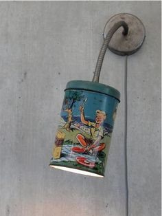 luminária lata