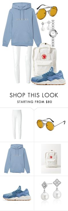 """""""Baby Blue"""" by faaliyah49 on Polyvore featuring Moschino, Spitfire, Fjällräven, NIKE, Blue Nile, Chanel and Hoodies"""