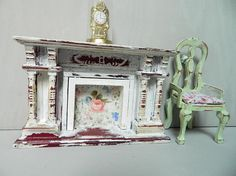 Dollhouse miniature 12th scale tatty French style fire place