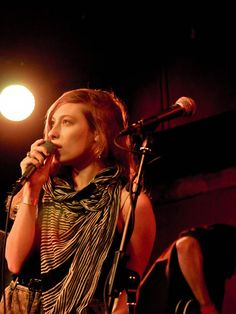 Samantha Urbani of Brooklyn-based band Friends.