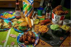 Homemade American Superbowl food.