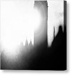 Fog On The Thames Canvas Print by Fine Art By Andrew David