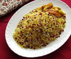 Turmeric and Saffron: Zereshk Polow - Rice with Barberries