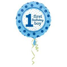 Fóliový balón 1st Birthday Boy dots - PARTYSPIRIT.SK 1st Boy Birthday, Dots, Pirate Theme, Party, Hawaiian Theme, Day Of The Dead, Boy First Birthday, Stitches
