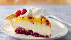 Enjoy this delicious double lemon raspberry swirl pie baked using Pillsbury® refrigerated pie crust – a wonderful fruit dessert.