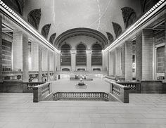 New York City,1903. Main concourse, Grand Central Terminal, N.Y. Central Lines. New York City art print.