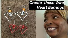 How to make Heart Earrings #12 - YouTube Diy Jewelry Videos, Flat Nose, Work Gifts, Heart Shaped Earrings, Heart Shapes, Originals, Make It Yourself, Youtube, How To Make
