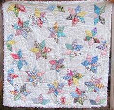 Antique Quilts Feedsack Star Vintage Baby by VintageQuiltShop, $199.99