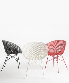 tokujin yoshioka's matrix chair for kartell features innovative 3D structure