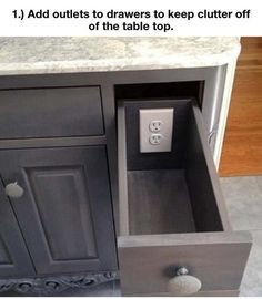 OMG I WANT TO DO ALL OF THESE WHEN I GET A HOUSE! SO COOL AND LOGICAL! cool-drawers-power-outlet-interior-design