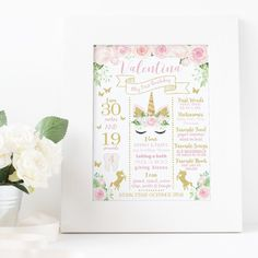 This pretty Unicorn Birthday Poster will delight any unicorn lover and make a gorgeous keepsake too.