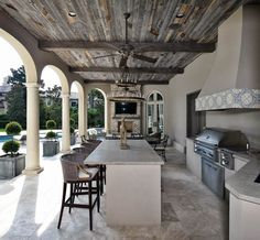 The Happiness of Having Yard Patios – Outdoor Patio Decor Outdoor Kitchen Patio, Outdoor Kitchen Design, Outdoor Rooms, Outdoor Living Spaces, Outdoor Furniture, Furniture Ideas, 50s Furniture, Covered Patio Kitchen Ideas, Covered Outdoor Kitchens