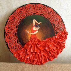 Diy Crafts - VK is the largest European social network with more than 100 million active users. Bottle Art, Bottle Crafts, Texture Painting On Canvas, Decoupage Plates, Nautical Bathroom Decor, Plaster Art, Different Kinds Of Art, Branch Decor, Clock Art