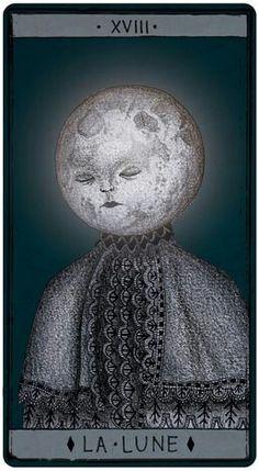 """La Lune"" - ""Tarot de Marseille"" by Pole Ka"