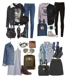 """""""Michael Clifford Inspired 90's Outfits for School"""" by fivesecondsofinspiration ❤ liked on Polyvore featuring Topshop, Frame Denim, Paige Denim, Dickies, Billabong, Opening Ceremony, Comptoir Des Cotonniers, Converse, Current/Elliott and Mulberry"""