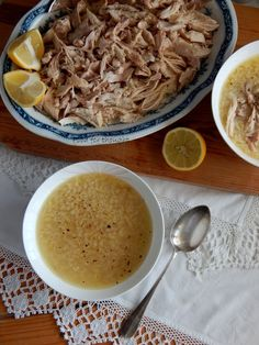 Food for thought: Κοτόσουπα με πεπονάκι Greek Recipes, Kid Friendly Meals, How To Cook Chicken, Poultry, Meat, Cooking, Soups, Food, Kitchens