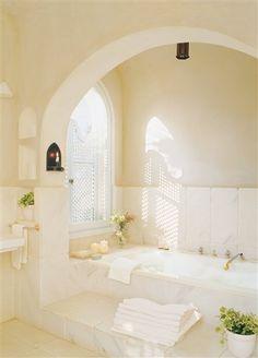 Arched bath niche