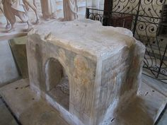 """Stone which Jesus used to mount His Donkey: The Church of Bethphage, also spelled Beitphage, meaning """"house of the early figs"""",is a Franciscan church located on the Mount of Olives in Jerusalem. It contains a stone traditionally identified as the one which Jesus used to mount the donkey at the start of his procession into Jerusalem."""