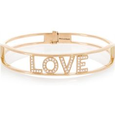 Spallanzani Jewels Love 18-karat rose gold diamond bracelet