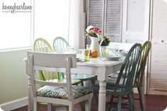 painting dining room table and chairs
