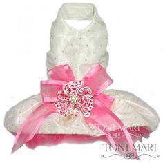 Sweet Eternity Fancy Dog Dress, Pink – Toni Mari – Dog Dresses – Famous Last Words Yorkies, Pet Clothes, Dog Clothing, Animal Clothes, Chihuahua Clothes, Lucky Puppy, Rhinestone Dog Collar, Designer Dog Beds, Dog Clothes Patterns