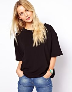 Enlarge ASOS T-Shirt in Textured Ottoman