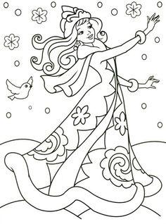 Malen nach einem Winterthema für Kinder – Suche in … – новый год - Malvorlagen Mandala Princess Coloring Pages, Colouring Pages, Adult Coloring Pages, Coloring Books, Printable Christmas Coloring Pages, Free Christmas Printables, Free Coloring, Coloring Pages For Kids, Winter Thema