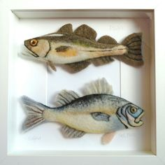 Needle felted Pollack and Sea Bass - SShaw