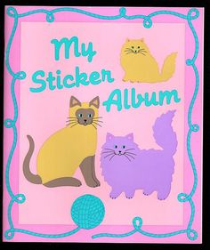 Vintage Cats Sandylion Sticker Album by CollectorsWarehouse