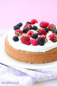 Eat Good 4 Life Gluten free vanilla cake-Happy birthday to my blog!  This gluten free vanilla cake is to die for. Not only it is healthier, nutritious and easy to make but it is also dairy free. With a maple coconut whipped cream frosting and fresh berry topping. 317 calories.   Read more at http://www.eatgood4life.com/gluten-free-vanilla-cake-happy-birthday-blog/#bSowW9ArPOmcVoBt.99