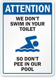 Funny Pool Signs | Humorous Pool Signs and Spa Signs