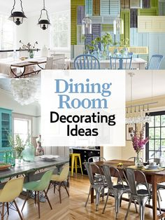 Browse dozens our favorite dining rooms from past issues: www.countryliving...From ecco friendly to floral themes to vintage furniture, the  dining room decorating guide will help you transform your dining space in no time.