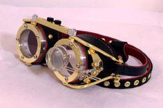 Steampunk Goggles Victorian Theatrical Goth от steampunkdesign, $139.00