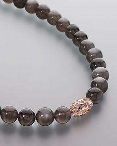 Mondstein-Collier mit Gold-Element von Sogni d´oro #sognidoro #sogni #doro #Schmuck #Edelsteine #jewelry #gemstones