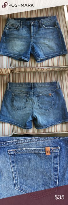 """Joe's jeans """"Sharpay"""" shorts These cute Joe's Jeans """"Sharpay"""" shorts are styled with that nice soft worn look, great for summer fun! Very good used condition. Work look is part of design. Joe's Jeans Shorts Jean Shorts"""