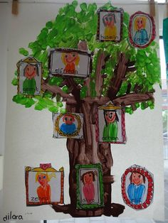Kindergarten Family Unit, Preschool Family, Kindergarten Art Projects, Family Crafts, Preschool Activities, Reggio Emilia, Family Tree For Kids, Art For Kids, Crafts For Kids