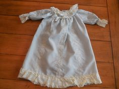 Vintage Victorian  heirloom Infant Baby Girl Blue by LittleMarin,