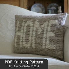 Pillow KNITTING PATTERN / Home / Cushion / door FiftyFourTenStudio