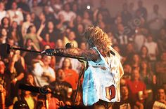 A #photo of Vince Neil on the Motley Crue COS tour in Hildalgo Tx 2005 #RIPMotleyCrue #TheFinalTour #VinceNeil