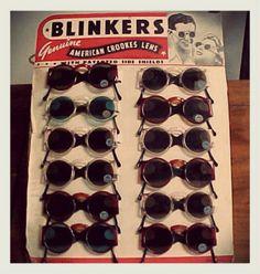 Deadstock 1940s Blinkers Sunglasses http://artdecodame.blogspot.com